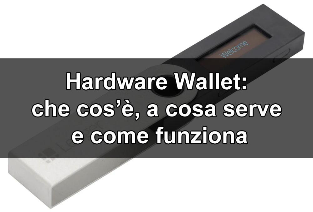 www.copytradingitalia - Hardware wallet: che cos'è, a cosa serve, come funziona